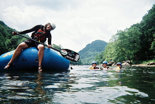 Outdoor jobs: river rafting guide