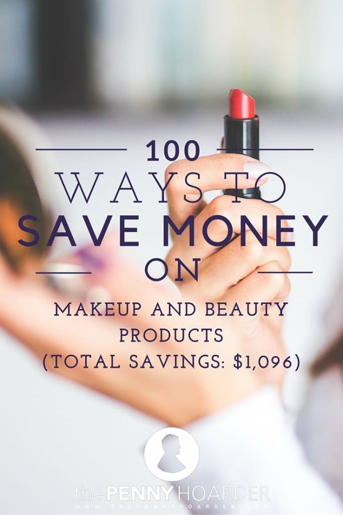 Whether your beauty routine takes two seconds or two hours, you're bound to save money on makeup with these 100 beauty tips!