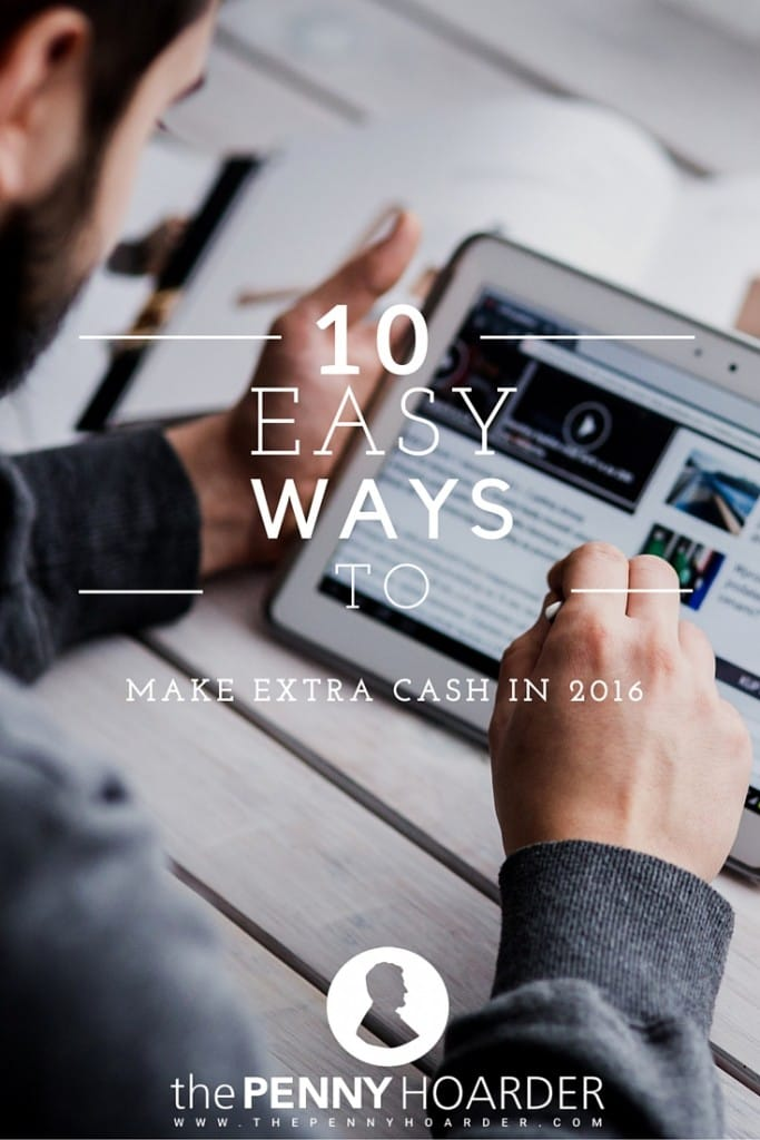 Cheers to 2016! What better way to ring in the new year than with some simple ways to make money? Here are 10 ways to earn some extra cash