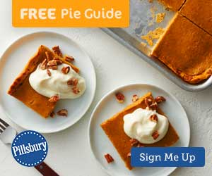 Pillsbury's free Pie Guide sign-up page.