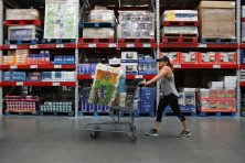 Renee Flowers of St. Petersburg shops for bulk items at Sam's Club in St. Petersburg, Fla., on Wednesday August 16, 2017.