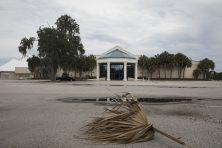 This photo shows an empty mall store front in Crystal River, Fla.