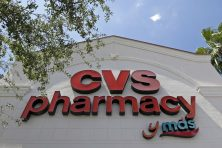 A CVS pharmacy sign at a store in Hialeah, Fla.