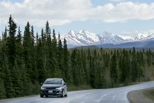 Scenic views inside of Denali National Park near Fairbanks, Alaska.